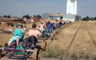 Riding the rails at Wallowa Lake