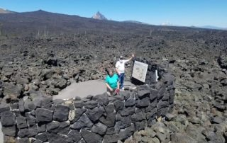 Oregon Lava Field: Julie Mason & Pat Delaney